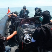 Ullman Biscaya Suspenion Seat on ASIS Boat Special Forces