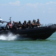 Ullman Biscaya Suspenion Seat on ASIS Boat Special Forces 1
