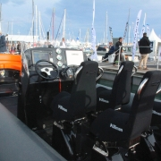 Hysucat / hydrofoil supported catamarans, Shock Mitigation Boat seat