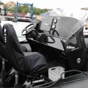 Aerodynamic boat console