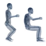 Skelleton pose Ullman x-ray white